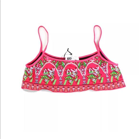Beach Riot Swim Nwt Pink Cami Knit Bikini Top Poshmark